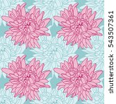 seamless floral wallpaper with... | Shutterstock . vector #543507361