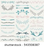 set of hand drawn color doodle... | Shutterstock . vector #543508387