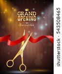 grand opening invitation... | Shutterstock . vector #543508465