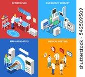 medical hospital personnel... | Shutterstock . vector #543509509