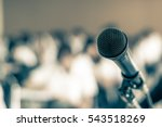 microphone speaker in seminar... | Shutterstock . vector #543518269
