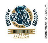 logo mountain bike. a cyclist... | Shutterstock .eps vector #543521074