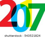 happy new year 2017 on a white...   Shutterstock .eps vector #543521824