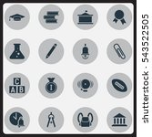 set of 16 editable education... | Shutterstock .eps vector #543522505