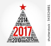 2017 happy new year and... | Shutterstock .eps vector #543524881