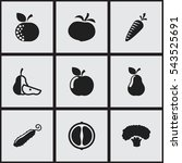 set of 9 editable cooking icons.... | Shutterstock .eps vector #543525691