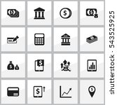 set of 16 editable finance...