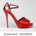 Elegant Women Red High Heel...