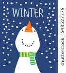 winter season greeting card.... | Shutterstock .eps vector #543527779
