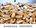 close up of fried peeled... | Shutterstock . vector #543529651
