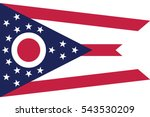 ohio state flag  usa. vector... | Shutterstock .eps vector #543530209