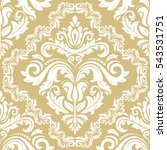 Damask Vector Classic White An...