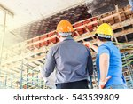 engineers at construction site | Shutterstock . vector #543539809