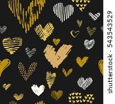 pattern with vector hand drawn...   Shutterstock .eps vector #543543529
