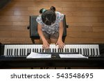 practice the piano | Shutterstock . vector #543548695