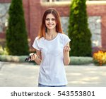 woman smiling woman looking