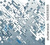 complex pixel pattern... | Shutterstock .eps vector #543555055
