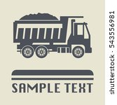 truck icon or sign  vector... | Shutterstock .eps vector #543556981