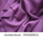 texture of linen cloth  purple... | Shutterstock . vector #543560011