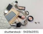 view on women bag stuff    Shutterstock . vector #543563551