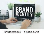 brand identity | Shutterstock . vector #543565645