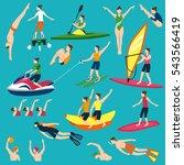 water activities icons set   Shutterstock . vector #543566419