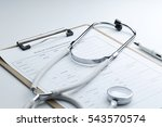 medical examination report and...   Shutterstock . vector #543570574