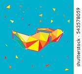 colorful geometric vector... | Shutterstock .eps vector #543578059