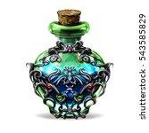 elixir of fantasy games for a... | Shutterstock . vector #543585829