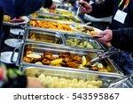 cuisine culinary buffet dinner... | Shutterstock . vector #543595867