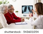 doctor shows results to old... | Shutterstock . vector #543601054
