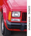 detail of front quarter panel... | Shutterstock . vector #543603