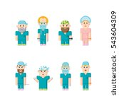 doctors and medical staff... | Shutterstock .eps vector #543604309