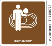 icon sports facility | Shutterstock .eps vector #543608737