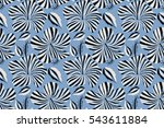 seamless. summer hawaiian... | Shutterstock . vector #543611884