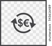 exchange vector icon. isolated... | Shutterstock .eps vector #543616489