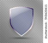 transparent shield. safety... | Shutterstock .eps vector #543620611