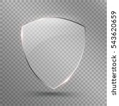 transparent shield. safety... | Shutterstock .eps vector #543620659