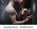 undressed couple kissing... | Shutterstock . vector #543622531