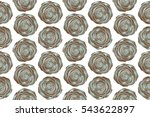 trendy seamless floral ditsy...   Shutterstock . vector #543622897