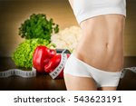 woman dieting concept. | Shutterstock . vector #543623191
