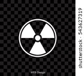 flat radiation icon