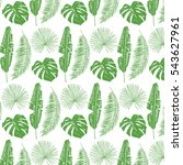 palm tree leaves pattern | Shutterstock .eps vector #543627961