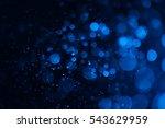 christmas bokeh on black... | Shutterstock . vector #543629959