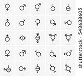 gender symbols | Shutterstock .eps vector #543638605