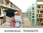 decorative book and library for ... | Shutterstock . vector #543646291