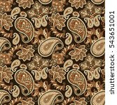floral seamless pattern with... | Shutterstock .eps vector #543651001