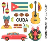 Cuba Poster. Vector Icons...