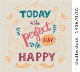 handwritten typographic poster... | Shutterstock .eps vector #543670705