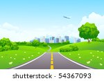 green summer landscape scene... | Shutterstock . vector #54367093